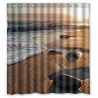 bathroom shower ideas - Custom Creative Home Ideas Sunset Beach Waves Bathroom Waterproof Polyester Fabric x180cm Shower Curtain