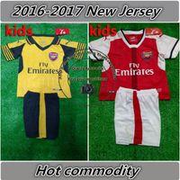 Wholesale Kids Arsenals jersey Football Shirt Ozil Walcott Welbeck Giroud Alexis Sanchez Soccer Jerseys children soccer shirts