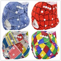 baby couches - Couches Lavables Baby Nappy Cover Size Adjustable Baby Cloth Diaper Cover Pocket Brand Character Reusable Baby Diapers Washable