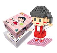bi diamond - Chi bi Maruko Diamond Bricks Toys Minifigures Building Blocks Cartoon Assembling Toy Educational Gift for Children Set Blocks