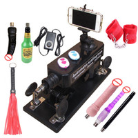 Wholesale Automatic Sex Machine Gun Set for Men Women Fucking Machine with Masturbation Cup Big Dildo Adult Game Sex Handcuffs and Leather Whip etc