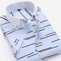 Wholesale Men Shirt Short Sleeve Casual Dress Mens Shirts Men s Clothing Brand Clothing Camisa Masculina Summer Wear New