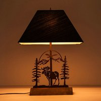 Cheap E27 deer industrial bedside decoration desk table vintage table lamp for living room bedroom lights styles