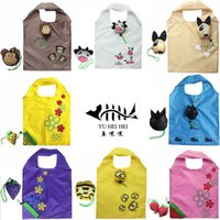 red monkey - Foldable Shopping Bag Fashion Cartoon Rabbit Monkey Bull Shopping Bags Reusable Shopping Bag Folding Recycle Storage Grocery bags KG bear