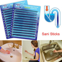 Wholesale 2016 New Sani Sticks Drain Cleaner Odor Remover Kitchen Bath Tub Sink Sani Sticks the Superior Odor Killer and Drain Cleaner Solution