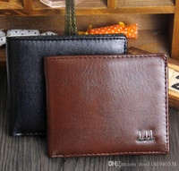 Wholesale 2015 Export New Fashion Men Bifold Fold Black Coffee Color Optional Quality Pu Leather Designer Card Holder Purse Wallet