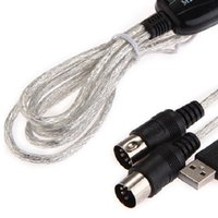 Wholesale Win Mac XP USB MIDI In Out Cable for Music Keyboard Adapter Converter Professional Black