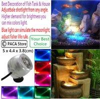 Wholesale Aquarium LED Spotlights Fish Tank Diving Spotlight LED Adjustbale shotlight from any angle Your Best Choice