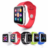Wholesale A1 Smart Watch Bluetooth Smartwatch Phone With Silicone Strap Support SIM TF Card Smart Watches Smartphone VS DZ09 U8 GT08 F BS
