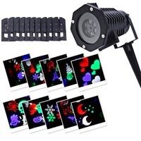 Wholesale NEW Waterproof Moving Snow Laser Projector Lamps Snowflake LED Stage Light For Christmas Party Landscape Light Garden Lamp Outdoor