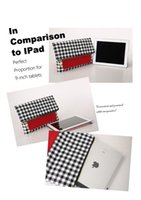 Wholesale IPad Holder Clutch BUY ONE GET ON FREE Popular Day Clutches for Ipad Protection Fold Over Style Gingham LXY02