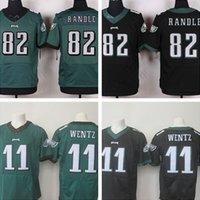custom american football jerseys - Drop ship new logo Men s American football jerseys RANDLE WENTZ Custom Embroidery Elite Jersey