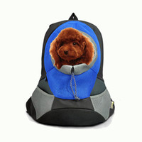 Wholesale 2016 pet supplies Colorful Pet Front Carrier Dog Cat Puppy Travel Bag Mesh Backpack Head out Carrier Bag DHL Free