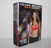 Wholesale DHL Free Fitness Videos DVDs Jillian Michaels BODYSHRED Bodybuilding Exercise Video Disc BOX SET KITS Workout DVD