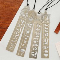 Wholesale New Cute Creative Horse Birdcage Shape Hollow Metal Bookmark Ruler For Kids Student Gift School Supplies