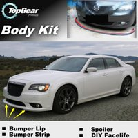 Wholesale Bumper Lip Lips For Chrysler C For Lancia Thema Front Skirt Deflector Spoiler For Car Tuning The Stig Recommend Body Kit Strip