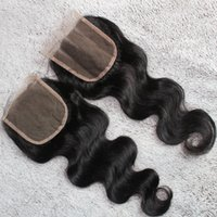 Wholesale top closures inch Burmese hair Vietnamese hair Malaysian hair closures hair extensions
