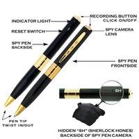 Secrets vidéo Prix-Sherlock Spy Pen Caméra Dans Pen Mini HD Caché Secret Spy Cam Pen Enregistreur Vidéo USB DVR Sans Fil Surveillance Spy Camera Rec Objectif Pen Caméra