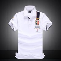 Wholesale Brand POLO Aeronautica Militare Shirt Men Cotton Tops Short Casual Air Force One new male polo aeronautica militare polo
