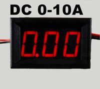 Wholesale Car current meter quot Digital Ammeter DC A wire Red LED Display Monitor tester Panel Ampere