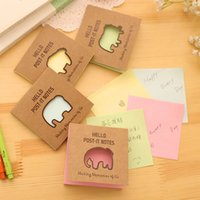 Wholesale Cute Cartoon Elephant Memo Pads Post it Mini Notes Kawaii Planner Paper Creative Stationery Office School Supplies