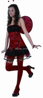 beatle game - Sexy Style Carnival Cosplay Costume Party Clothing for Women beatle knitted skirt costumes red color