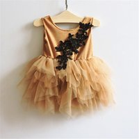 aa color - Hug Me Baby Girls Sequins Bow Dress Christmas Lace Tutu Party Dresses Childrens Sleeveless Kids Party Vest Dress AA
