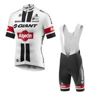 bib shorts road - Giant Newest Cycling Jerseys Men Summer Short Sleeve Tops Bib Trousers Top Class Lycra Road Bicycle Clothing White Bicycle Kits XS XL