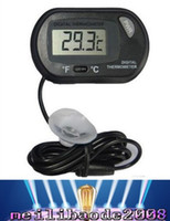 Wholesale 2016 new LCD Digital Fish Tank Aquarium Thermometer Temperature Water Terrarium Black Aquariums Aquariums Fish MYY