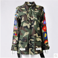 airport print - Quan Zhilong star with Angelababy Yang Ying airport Street beat Korean couple camouflage jacket windbreaker embroidered badge