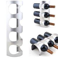 Precio de Bastidores de almacenamiento de vino-3/4 botellas de vino de metal de rack montado en la pared de la barra de botellas de vino titulares Rack de almacenamiento al por mayor