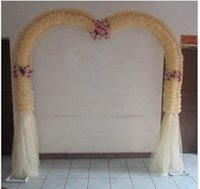 Wholesale Wedding Flowers wedding flower door arches finished silk flowers arch happiness opening
