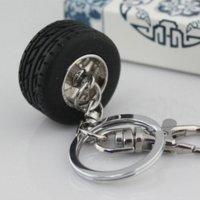 auto parts tires - 10pcs Creative Auto Parts Model Thicker Wheel Tyre Tire Keychain Key Chain Ring Keyring Keyfob