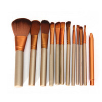 angled makeup brush - 12pcs set Makeup Tools sets kit with box Brushes Powder Eyeshadow Large Medium Eyebrow Small Lip Eyeliner Eyelid Angled Contour Brushe DHL