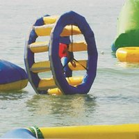 Wholesale inflatable hot wheel or wind fire rings playing on the water M water game in summer