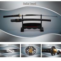 bokken - Handfored clay tempered steel blade brass tsuba japanese katana samurai bokken