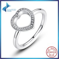 Wholesale Good Selling Woman knuckle ring Sterling Silver heart With AAA Cubic Zirconia Romantic Gift For Wedding
