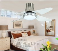 Wholesale Ceiling fan lights Fan light with remote control simple LED Fan light ceiling living room restaurant inch