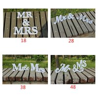 Wholesale 8 quot White or Custom Painted Mr and Mrs Sign Wedding Sweetheart Table Decor Mr Mrs Wooden Letter Thick Mr and Mrs Wedding Sign