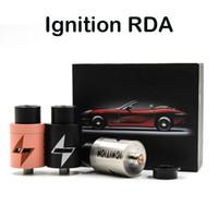 Ignición RDA Clon atomizadores cigarrillo electrónico vaporizador 22 mm Diámetro 2 postes de la terraza grande del aire Agujero Negro Plata Cobre RDA Fit Box 510 Mod