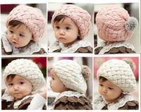 Wholesale Gorros baby beaine kids winter bonnet hat faux rabbit fur crochet skullies cap for years old girl turbante toucas