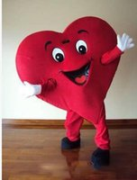 Wholesale Cheap Red Heart Adult Mascot Costume For Valentine s day Adult Size Fancy Dress Cartoon Outfits Suit