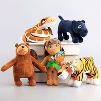 big brown book - The Jungle Book Plush Toys cm Cartoon Movie The Tiger Panther Python Wolf Child Brown Bear Stuffed Animals Plush Toys High Quality