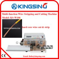 automatic wire cutting machine - High Performance Automatic Cable Cutting and Stripping Machine for Coaxial Wires KS W106 Direct Manufacturer