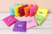 Wholesale Candy color Baggu folding Shopping Bags Reusable Eco Friendly Portable Tote pouch Environment Safe Go Green DHL