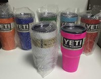 Wholesale yeti rambler lid Purple YETI Cups oz YETI Rambler Cooler Vacuum Insulated Vehicle Coffe