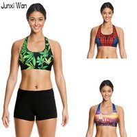 Wholesale Summer Athletic Woman Printed Sports Bra Punk Sexy Kawaii Vest Sutia Gym Running Fitness Quick dry Crop Top WB0102
