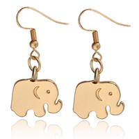 Boucles d'oreilles Animal Elephant Charm Boucle d'oreille Mignon Filles Métal Oreille Bijoux Cadeaux de Noël Boucle d'oreille Femme zj-0903895