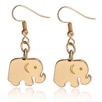 Wholesale Earrings Animal Elephant Charm Earring Cute Girls Metal Ear Jewelry Christmas Gifts Boucle d oreille Femme zj