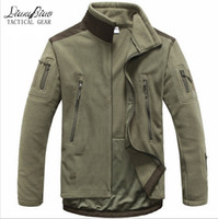 Wholesale Fall Men Tactical clothing autumn winter fleece army jacket softshell outdoor hunting clothing men softshell military style jackets